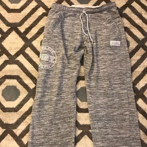 Heather Grey & White Victoria Secret BF Pants
